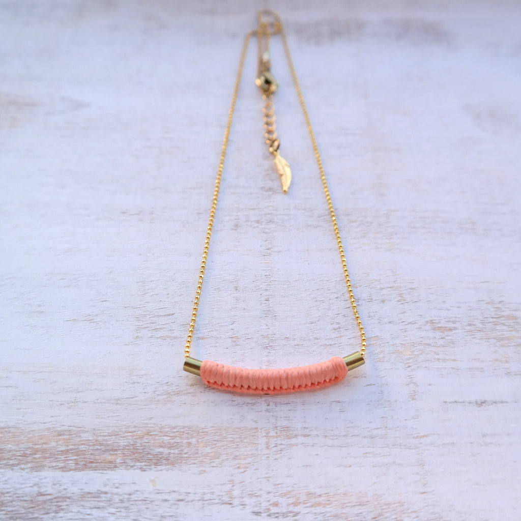 Gold Tube Necklace - Gypsy Soul Jewellery  - 2
