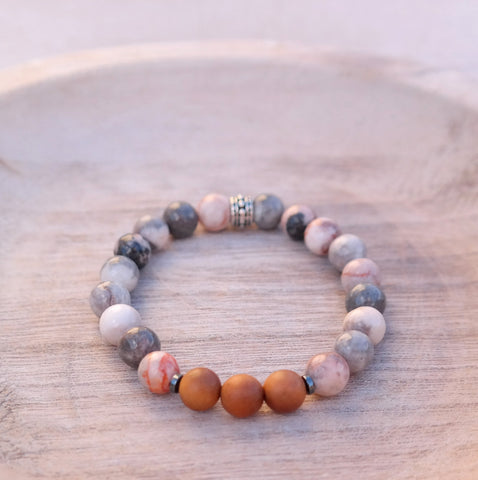"Snow Quartz Bracelet - ""Calming Clarity"" Energy Bracelet"