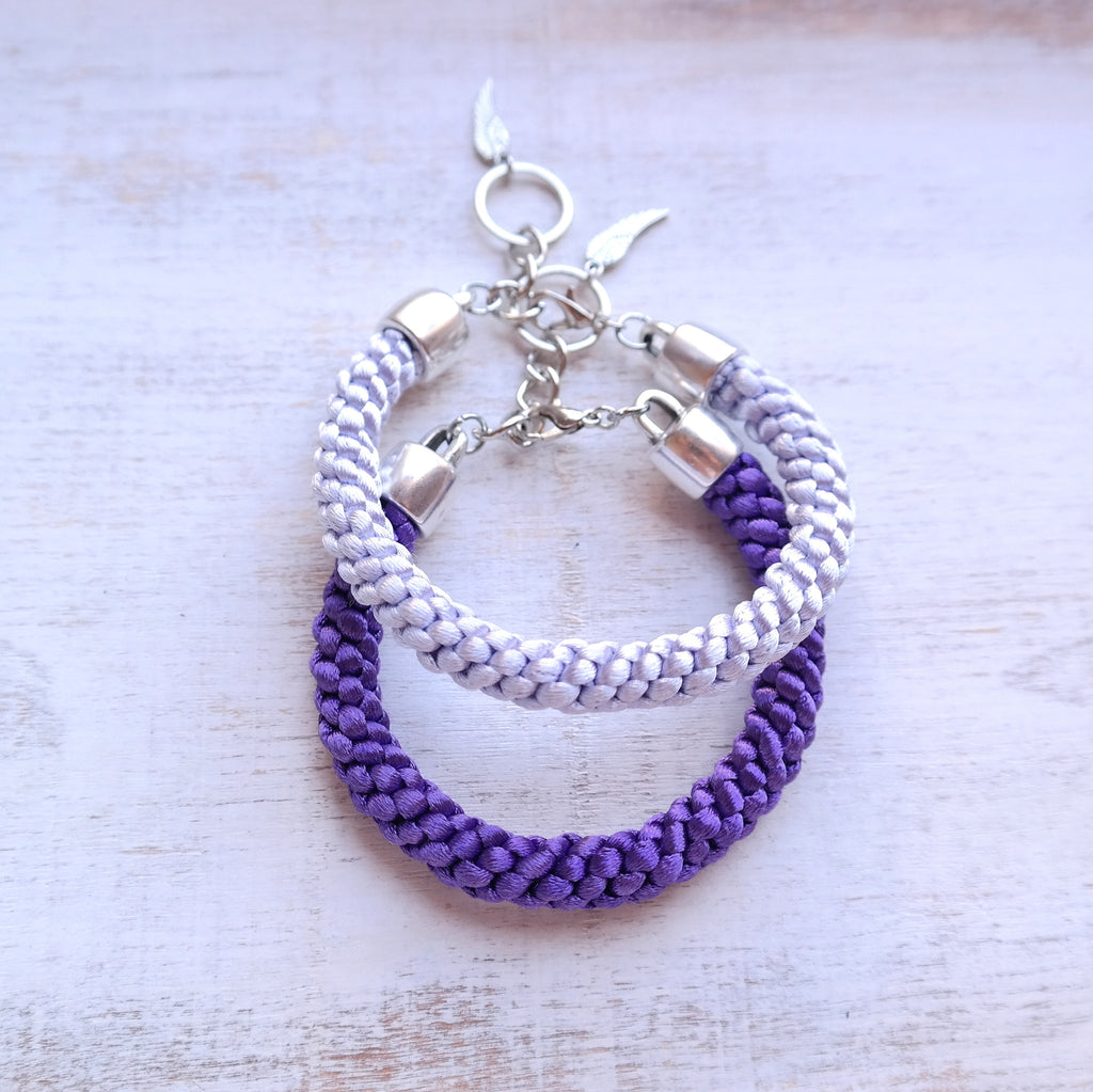 Braided Satin Cord Bracelet - Gypsy Soul Jewellery  - 2