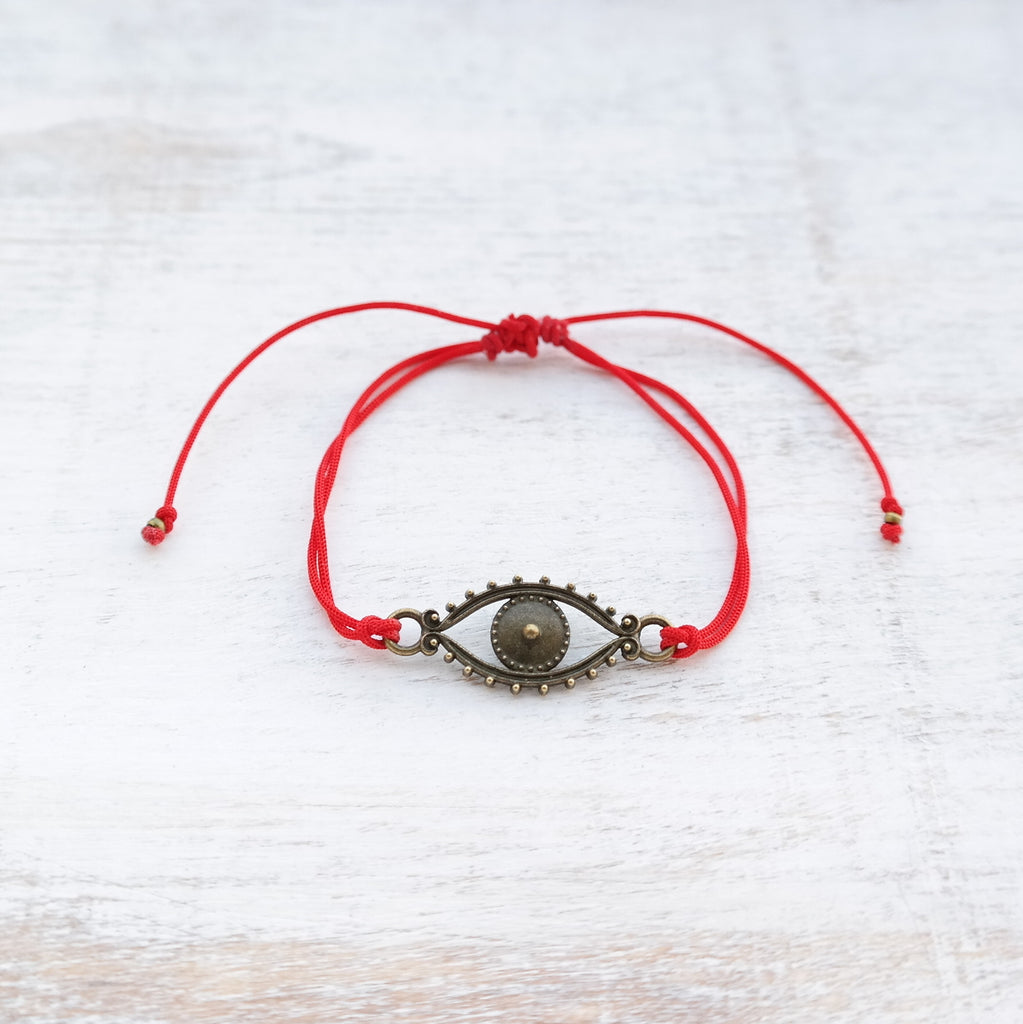 Evil Eye Bracelet - bronze - Gypsy Soul Jewellery  - 7
