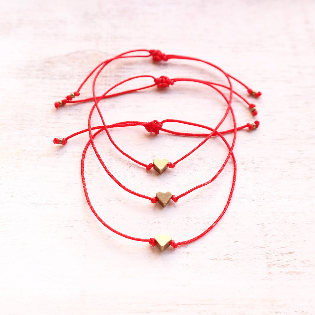 Red Heart Bracelet - Gypsy Soul Jewellery  - 1