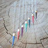 Silver Spike Necklace - many colours - Gypsy Soul Jewellery  - 1