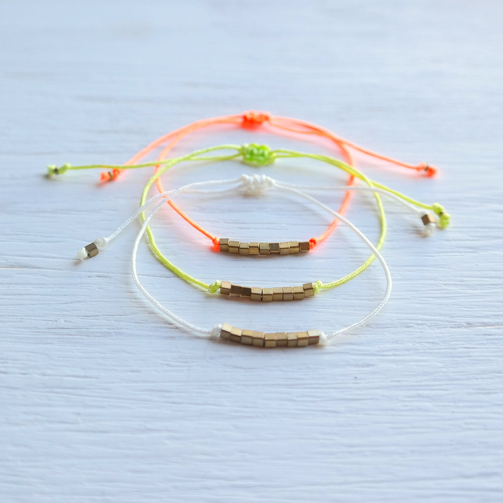 Boho Beach Bracelets With Brass Beads - Gypsy Soul Jewellery  - 1