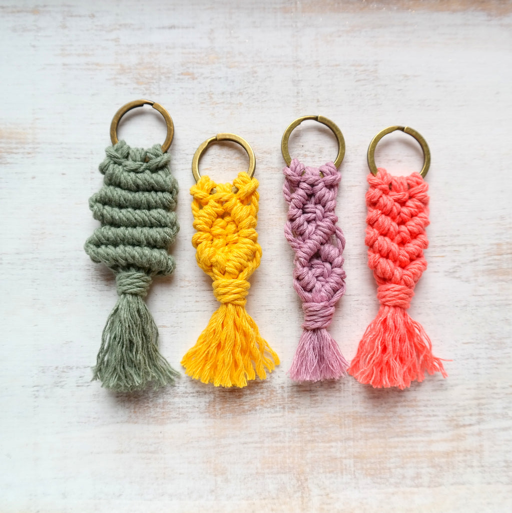 Colourful Macramé Keychain