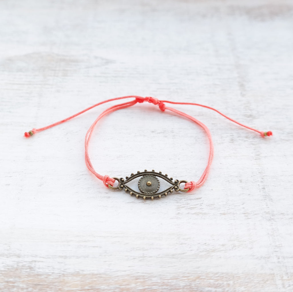Evil Eye Bracelet - bronze - Gypsy Soul Jewellery  - 8