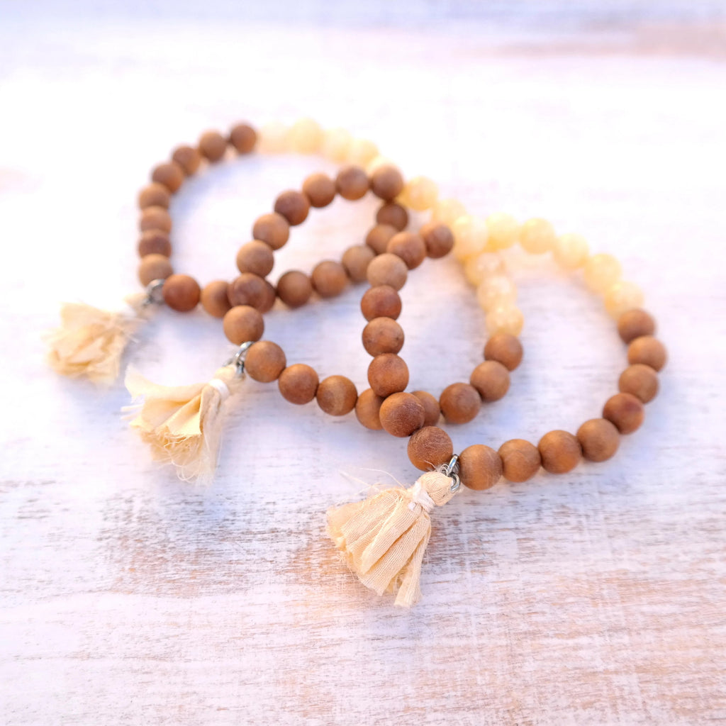 Jade Energy Bracelet with Sandalwood