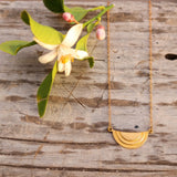 Gold Half Moon Necklace - Gypsy Soul Jewellery