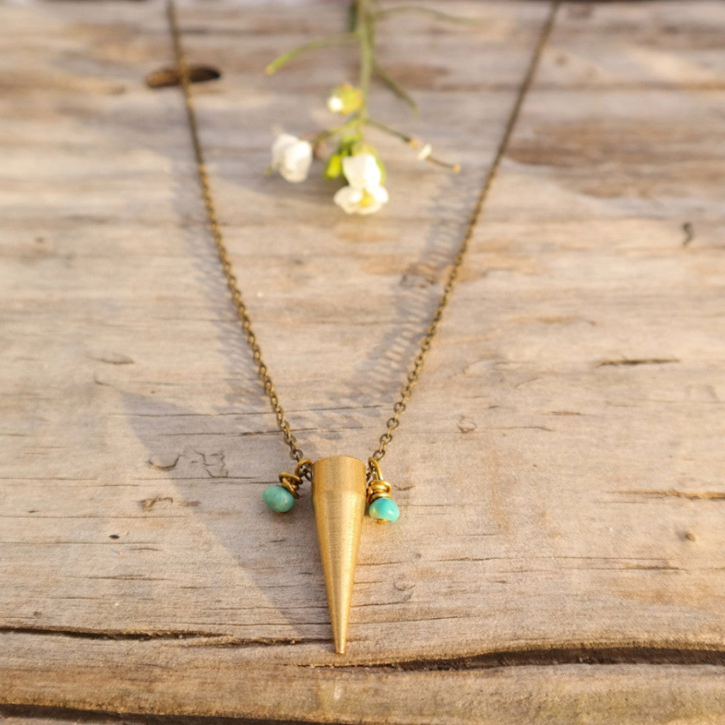 Spike Turquoise Necklace - Gypsy Soul Jewellery  - 2