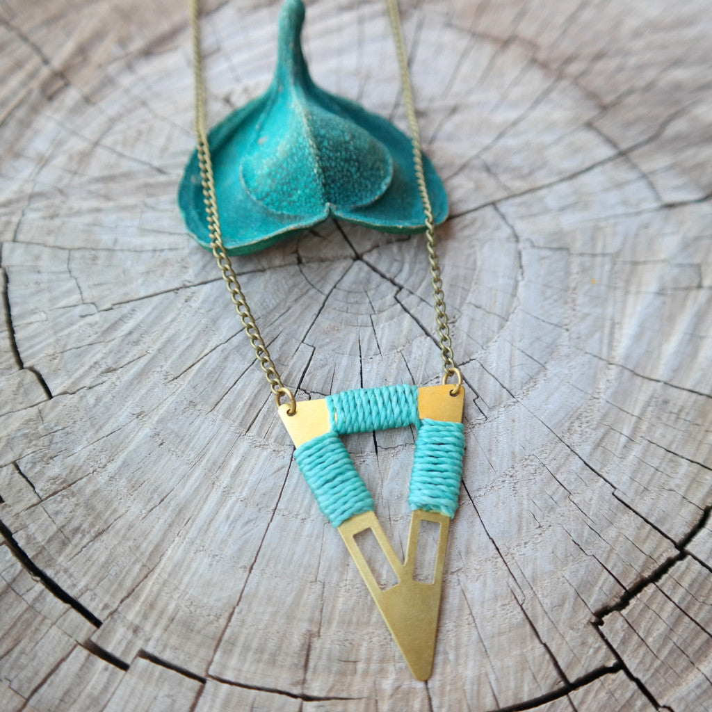Tribal Triangle Necklace - Gypsy Soul Jewellery  - 3