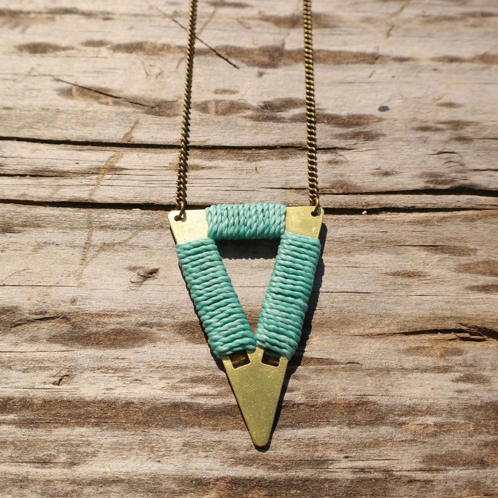 Short Tribal Triangle Necklace - Gypsy Soul Jewellery  - 7