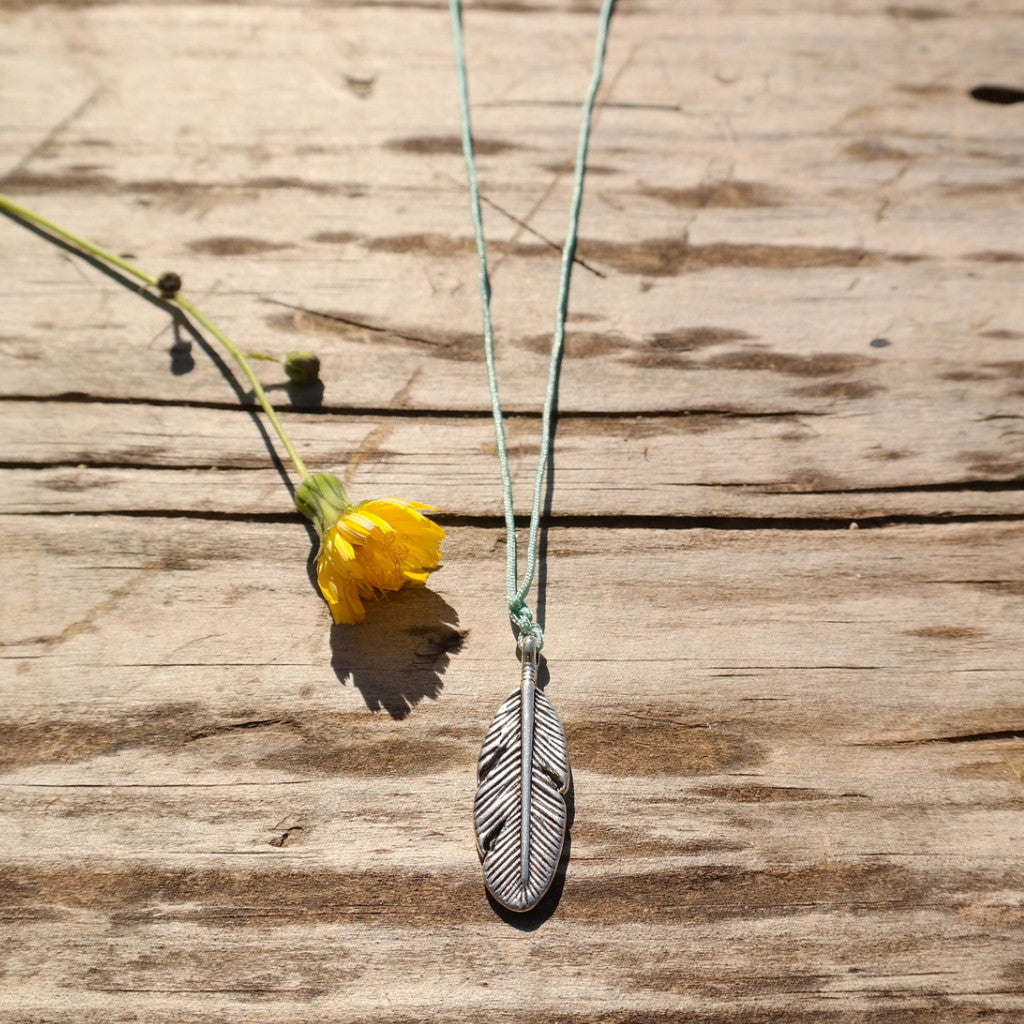 Beach Feather Charm Necklace - Gypsy Soul Jewellery  - 8