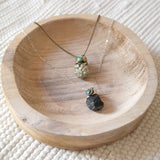 Third Eye Necklace - Tourmaline & Pyrite Necklace