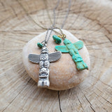 Totem Pole Necklace with Turquoise - Gypsy Soul Jewellery  - 4