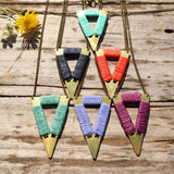 Short Tribal Triangle Necklace - Gypsy Soul Jewellery  - 1