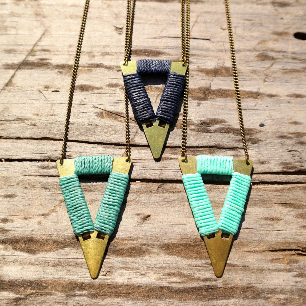 Short Tribal Triangle Necklace - Gypsy Soul Jewellery  - 8