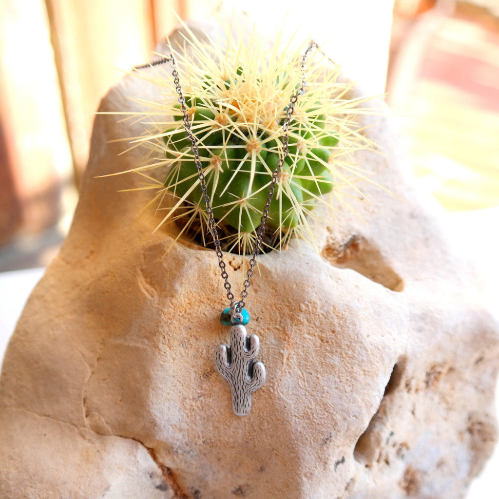 Cactus Charm Necklace - Gypsy Soul Jewellery