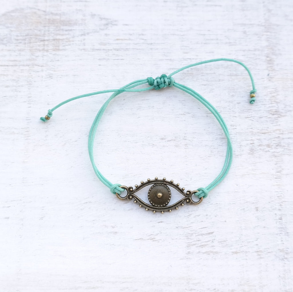 Evil Eye Bracelet - bronze - Gypsy Soul Jewellery  - 9