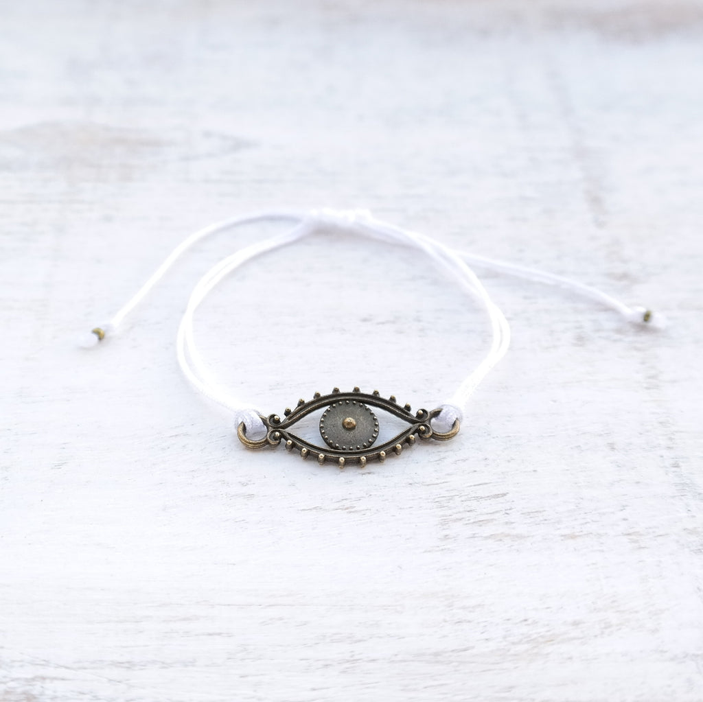 Evil Eye Bracelet - bronze - Gypsy Soul Jewellery  - 10