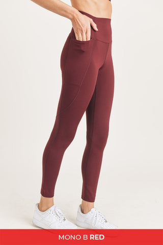 Bee Mine Burgundy Activewear Leggings