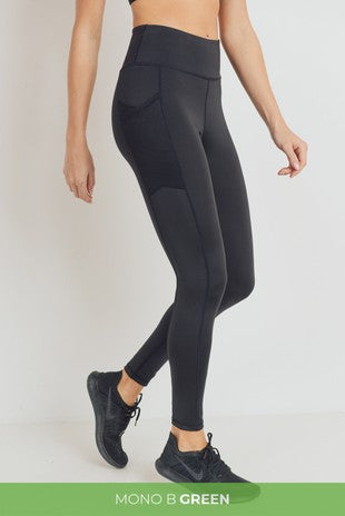 Won't Back Down Black Activewear Leggings With Mesh Pockets