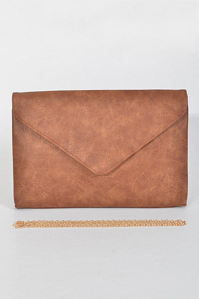 Brown Oversized Envelope Clutch