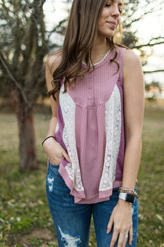 Orchid Lavender & Lace Babydoll Tank