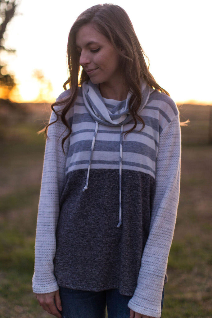 Let It Snow Brushed Cowl Neck Pullover