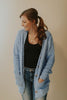 Winter Blues Popcorn Button Down Cardigan