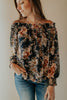 RESTOCK! Juliet Navy Floral Off-Shoulder Blouse