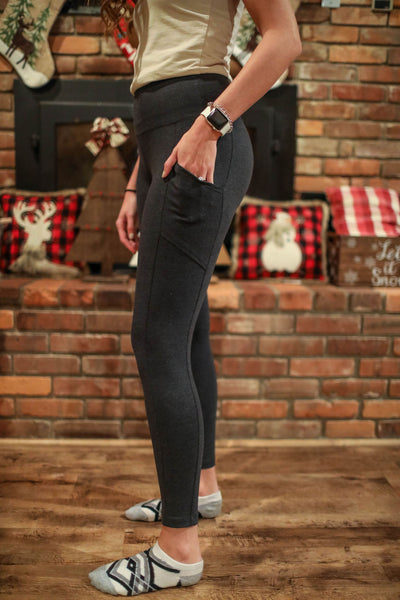 Comfy Cotton Leggings With Pockets - 3 Colors!
