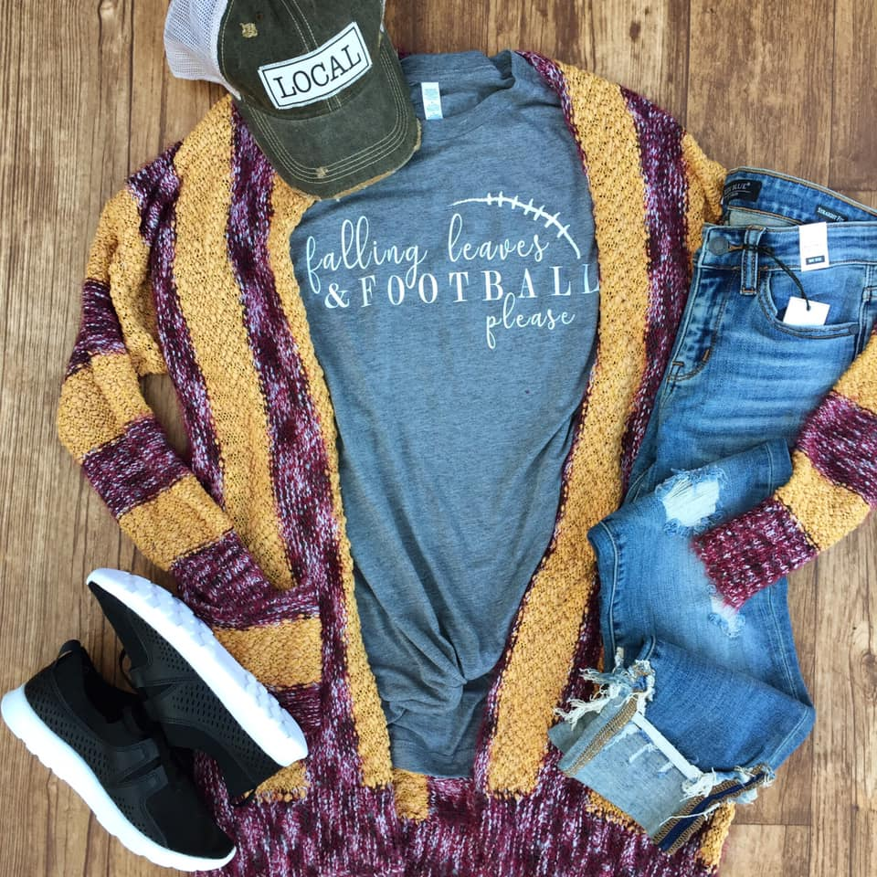 Falling Leaves & Football Please Tee by Rustic Honey
