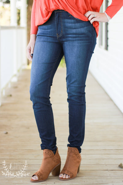 Clean Dark High Waist Judy Blue Denim Jeans