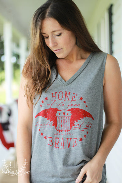 Home Of The Brave Tank by Rustic Honey
