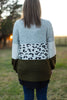 Olive & Leopard Color Block Cardigan