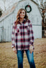 Natural & Burgundy Plaid Flannel Shirt