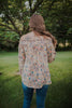 Off Shoulder Vintage Floral Peasant Top