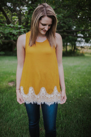 Mustard and Lace Tunic Tank
