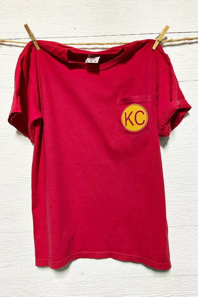 KC Keepin' It Simple Red Pocket Tee