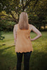 Honey Crochet Knit Tank With Scallop Hem