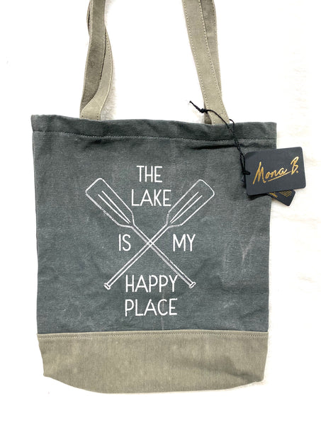 The Lake Is My Happy Place Tote by Mona B
