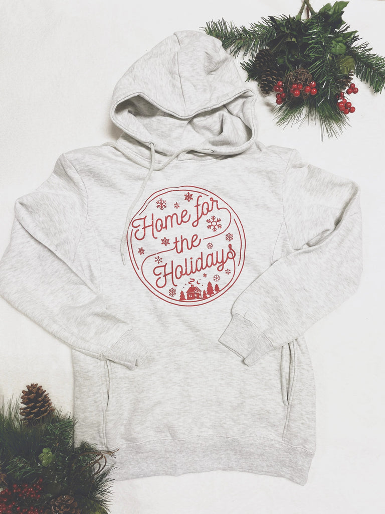 Home For The Holidays - Red Print Graphic Tees & Sweatshirts