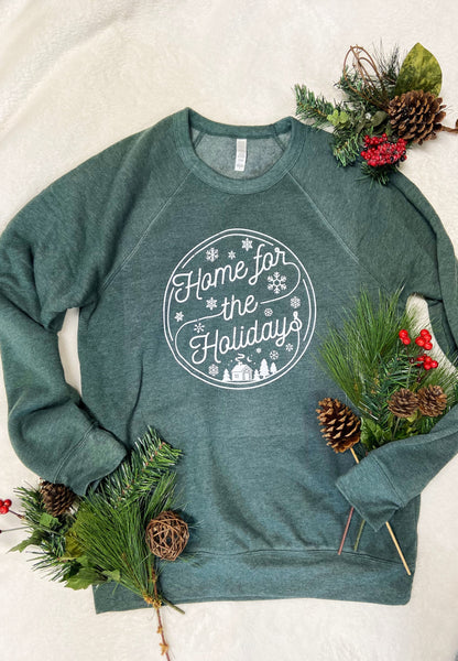 Home For The Holidays - White Print Graphic Tees & Sweatshirts