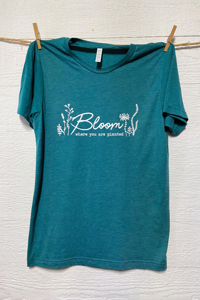 Bloom Where You Are Planted Tee By Rustic Honey