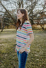 Colorful Spring Stripe Knit Tee