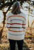 Fuzzy Striped Pullover Popcorn Sweater