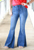 High Waist Superflare Bell Bottom Jeans
