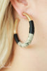 Snakeskin Black & Gold Hoop Earrings