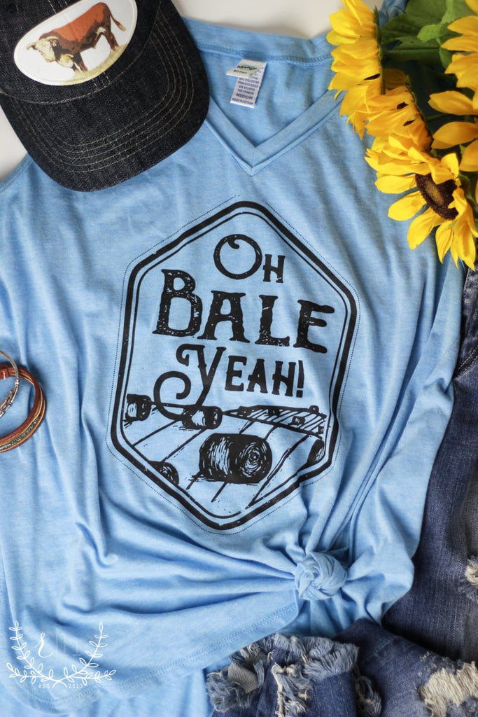 Oh BALE Yeah Tee (or Tank) by Rustic Honey