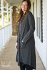Charcoal Thermal Button Front Knit Duster Cardigan