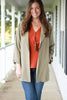 Sage Blazer Jacket With Pockets